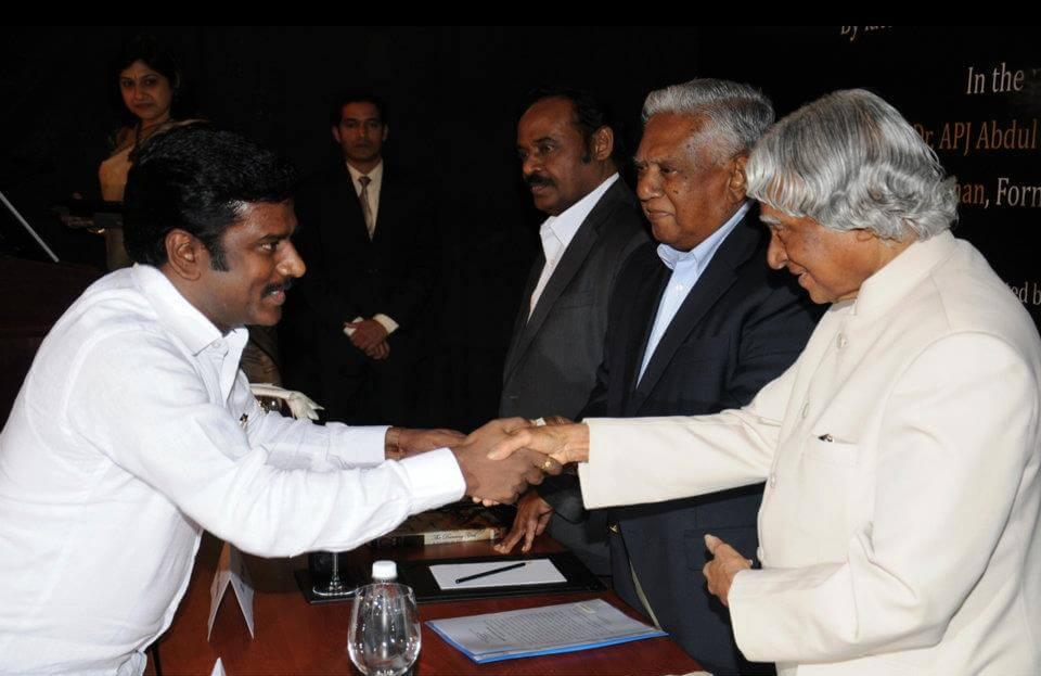 Mr.K.V.Kathiravan with Dr.A.P.J.Abdul Kalaam,