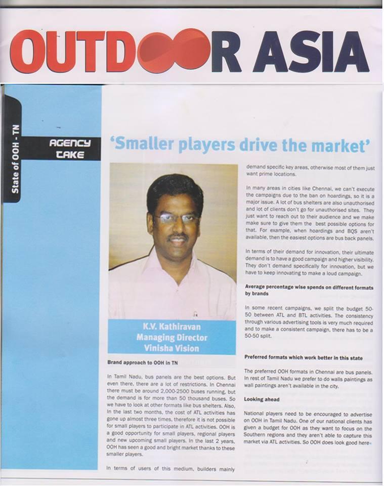 Mr.Kathiravan's Interview in OUTDOOR ASIA