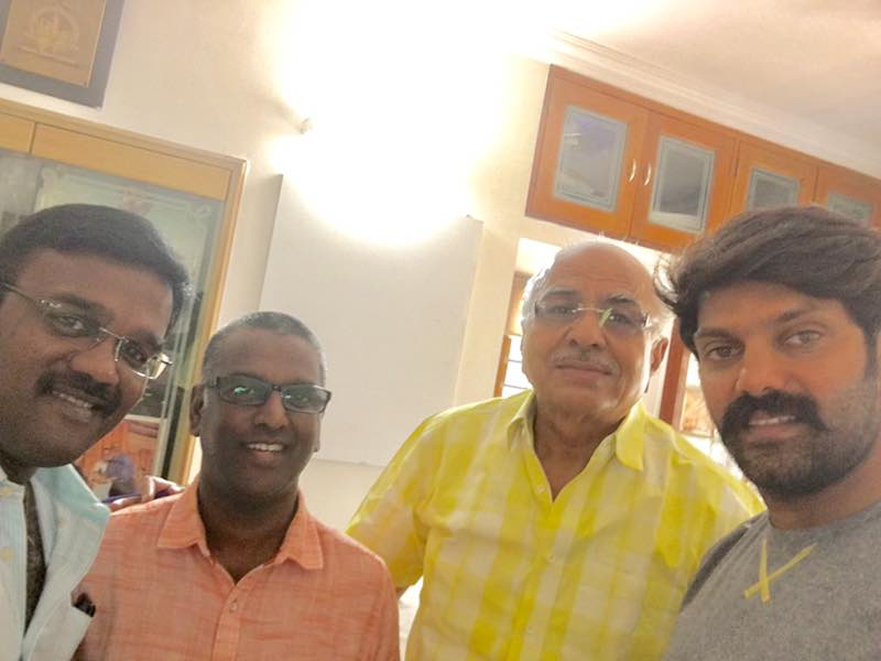 Mr. Kathiravan with R. B. Choudary Tamil film producer and Tamil film Actor Arya